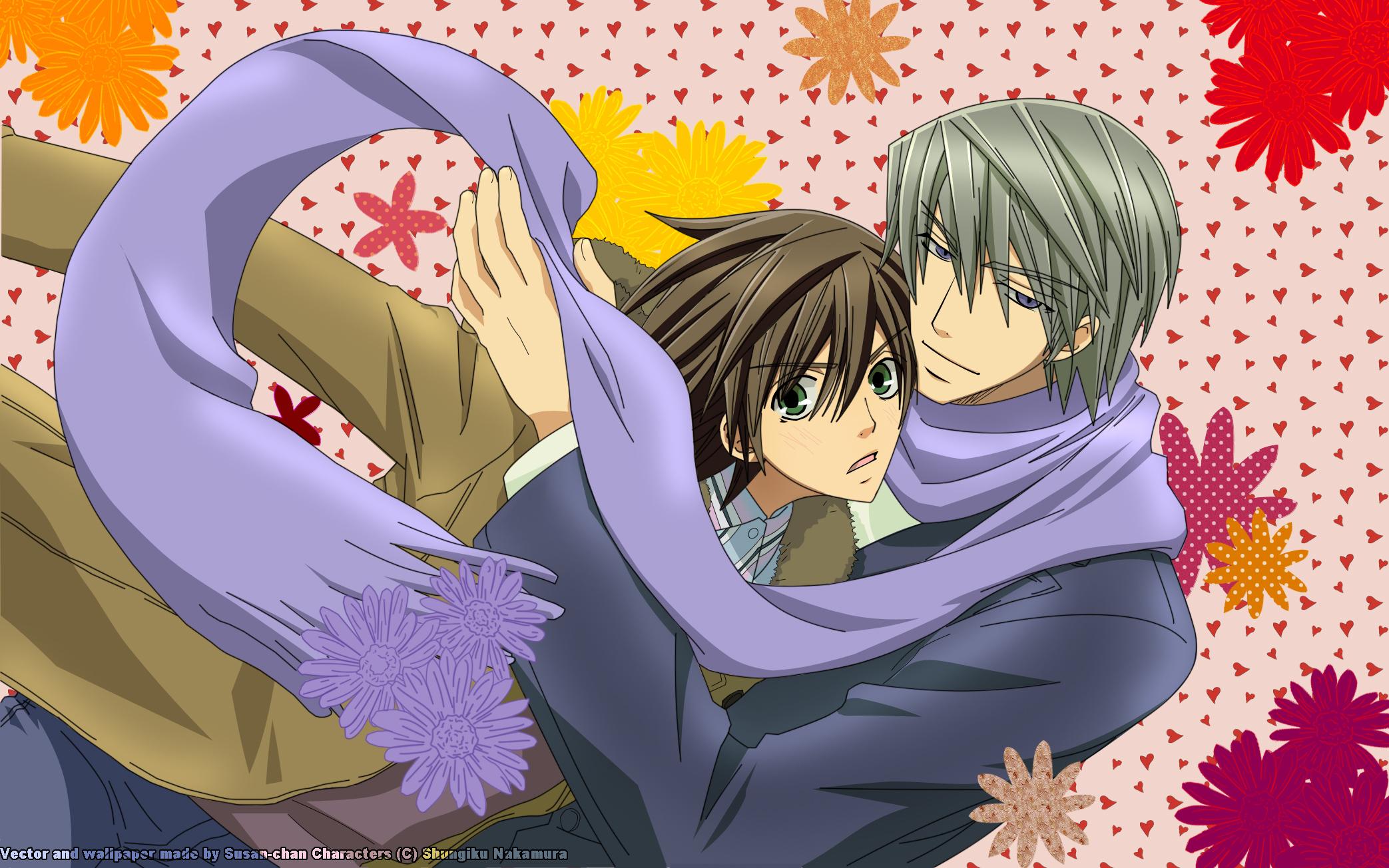 Usami Akihiko and Takakhashi Misaki from Junjou Romantica