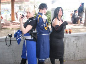 Hawkeye, Mustang and Lust from Fullmetal Alchemist