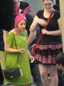 Louise from Bob's Burgers. The one cosplay I wish I had a picture of, Consuelo from Family Guy.
