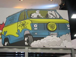 Zoinks! It's a shot of the WB booth.