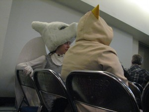 Even cosplayers go to panels.