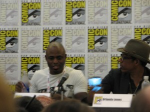 Wayne Brady and Orlando Jones at the Black Panel
