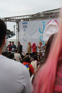 On the stage at the J-Pop Summit Festival
