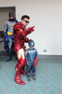 Iron Man and a little fan