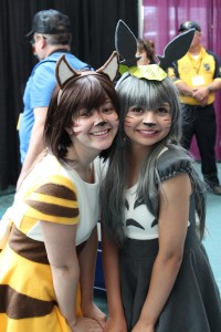 A cute Totoro and Catbus