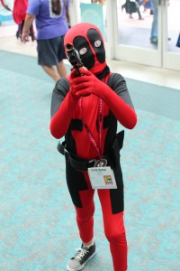 Child Deadpool is ready to fight some crime... or make witty remarks.